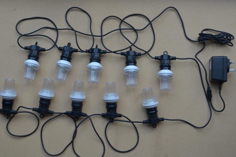 LED Strobe Festoon Lighting / Flashing Party Light String (10 Bulbs) - SyncroLight.co.uk