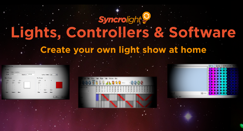 lighting controllers and software for amazing light shows synchronised to music